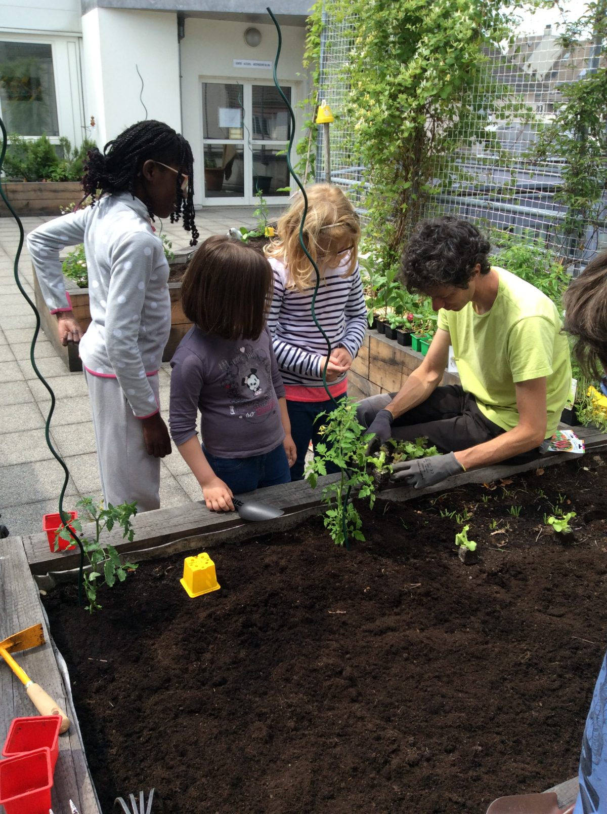 Jardinage avec Vert l'Avenir